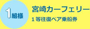 1名様 宮崎カーフェリー 1等往復ペア乗船券